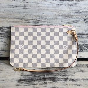 BRAND NEW LOUIS VUITTON NEVERFULL AZUR POUCH